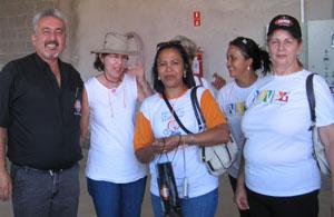 João Leite com os visitantes